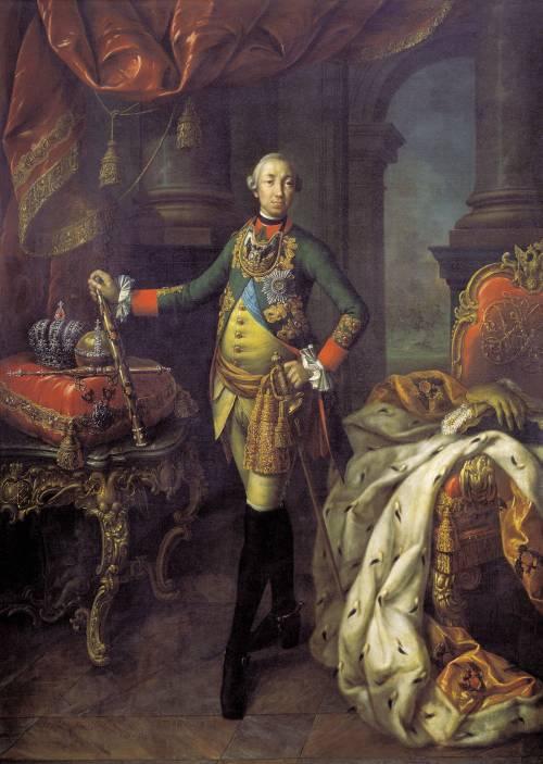 Парадный портрет императора Петра III кисти художника А. П. Антропова