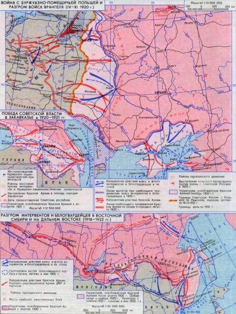 Война с буржуазно-момещичьей Польшей и разгром войск Врангеля 1920 года
