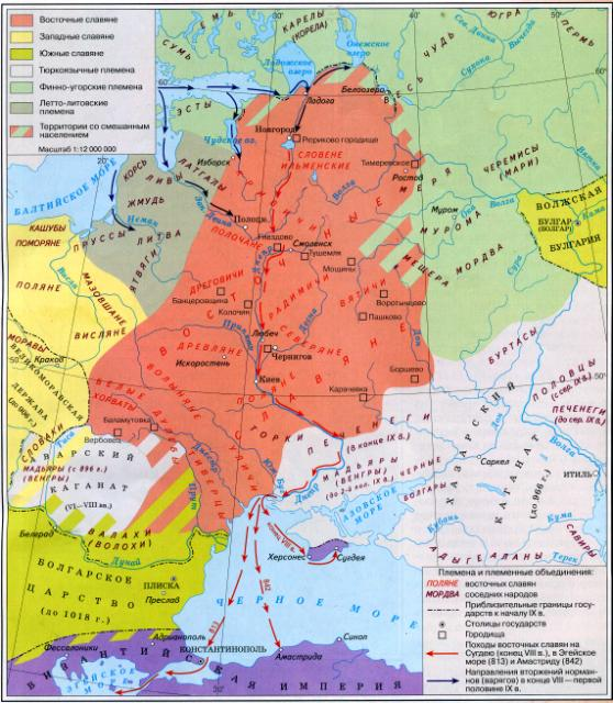 Восточные славяне в 7-9 вв