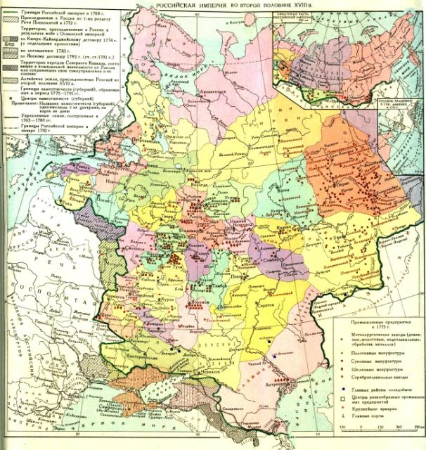 Российская империя во второй половине 18 в