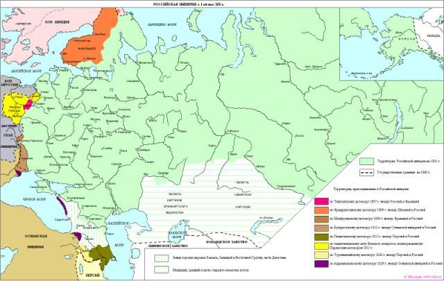 Российская империя в первой половине 19 в