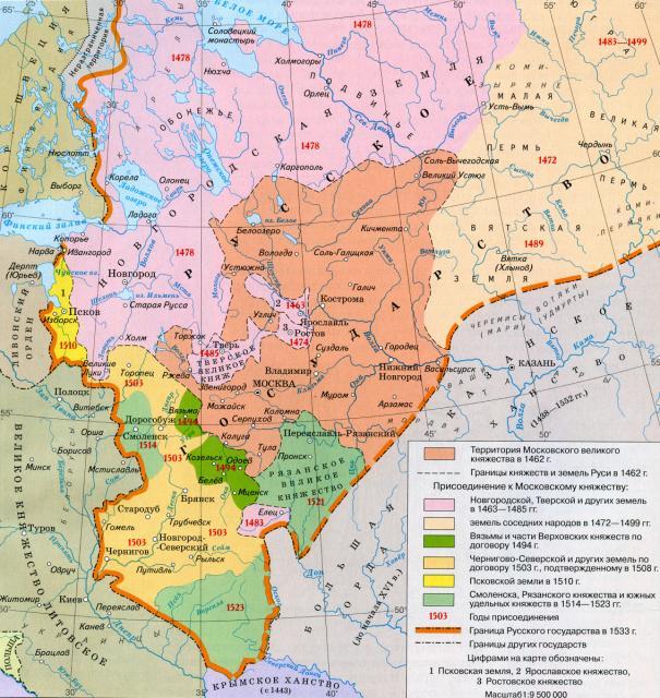 Русское государство при Иване III и Василии III