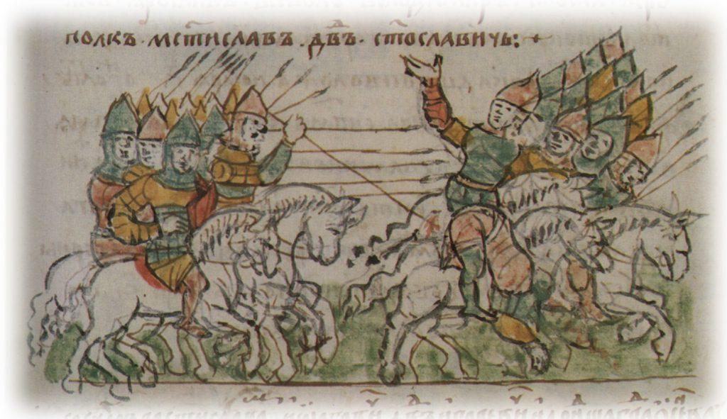 Битва при Салнице. Иллюстрация из Радзивилловской летописи.