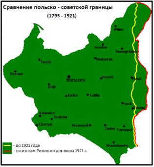 Результат переноса польско-советской границы