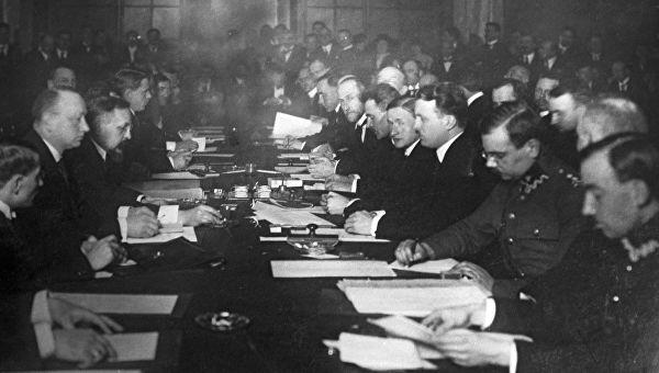 Подписание Рижского мирного договора